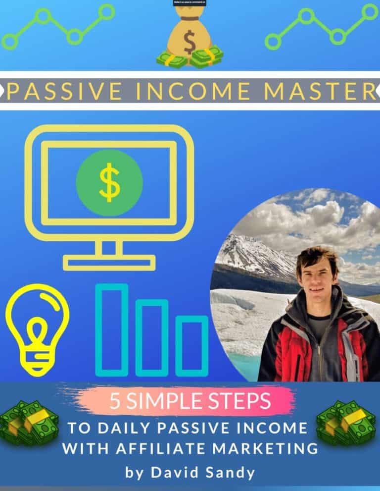 Passive Income Master E-Book Cover | David Sandy Official