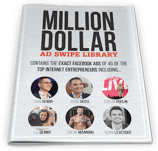 One Funnel Away Challenge Bonus 4: Million Dollar Ad Swipe Library 3D Cover - ClickFunnels Bonuses