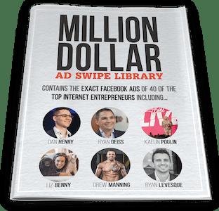 One Funnel Away Challenge Bonus 4: Million Dollar Ad Swipe Library 3D Cover - ClickFunnels Bonuses