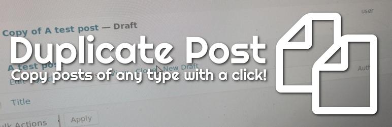 Duplicate Post WordPress Plugin to Clone Posts