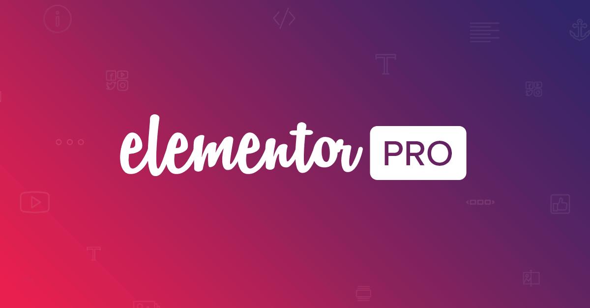 Elementor Pro WordPress Page Builder