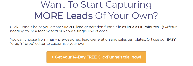 Lead Funnels ClickFunnels