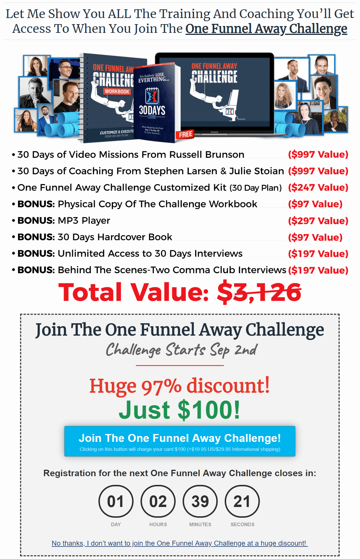 Lead Funnels Review One Funnel Away Challenge Upsell