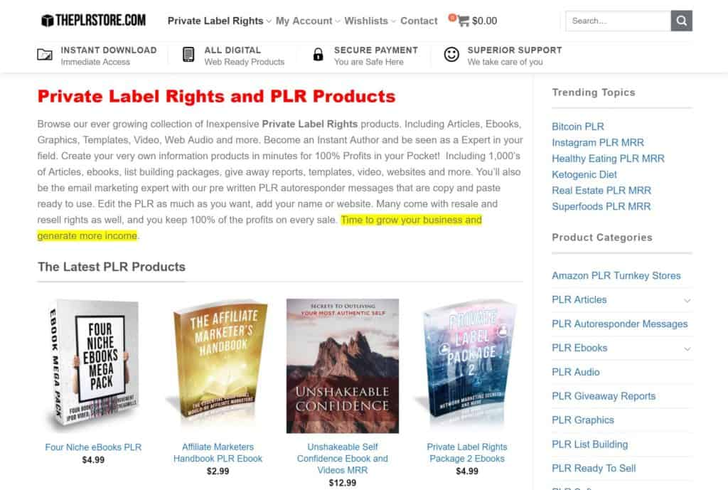 The Private Label Rights Store - Get Bonuses for Affiliate Offers