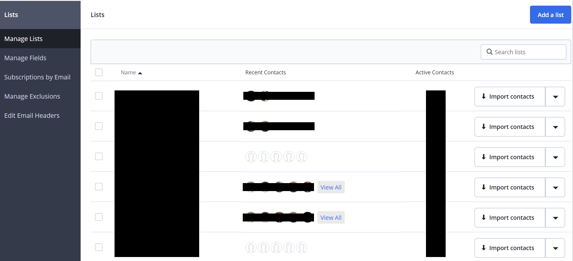 ActiveCampaign Lists