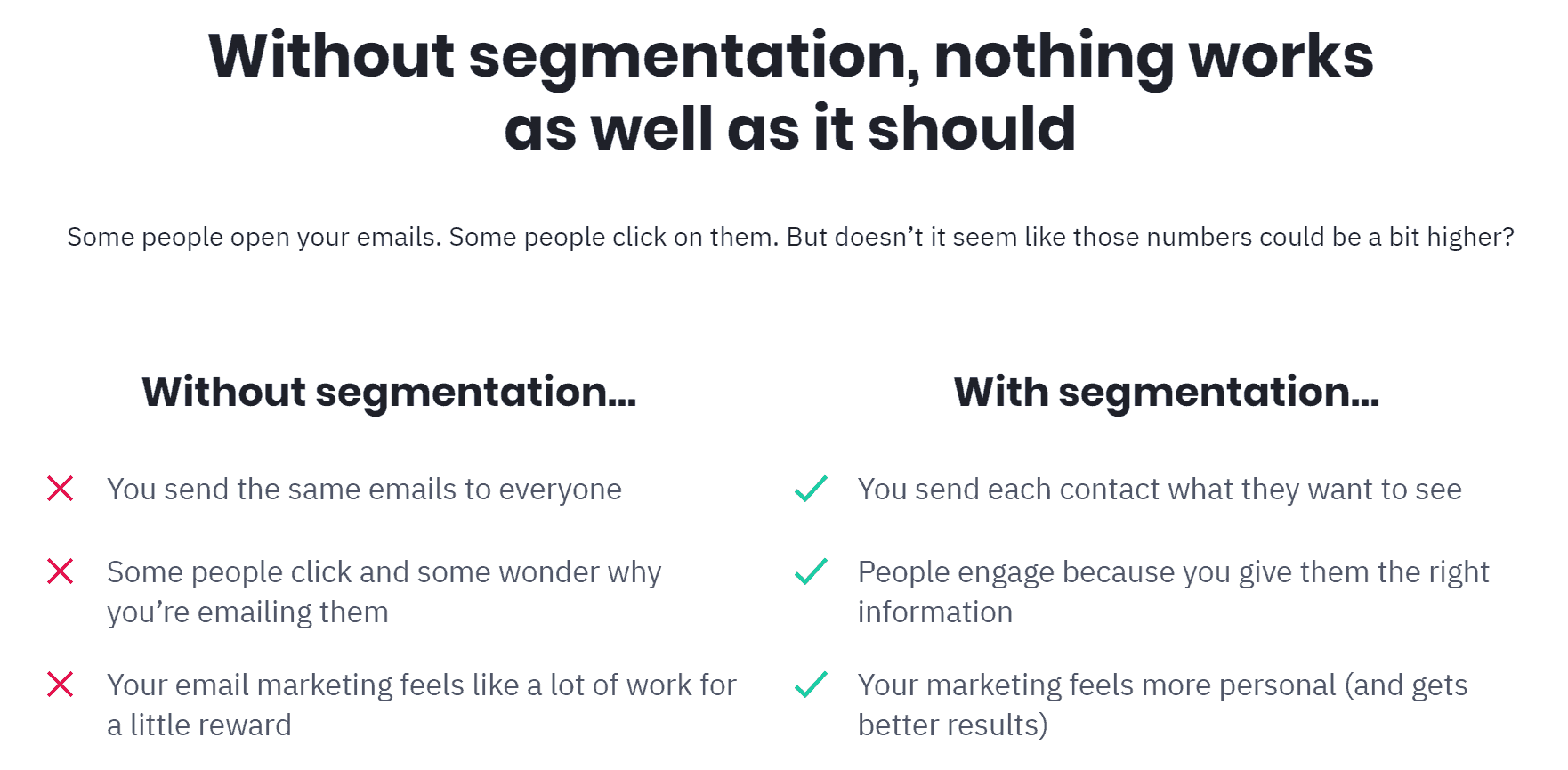 ActiveCampaign Segmentation