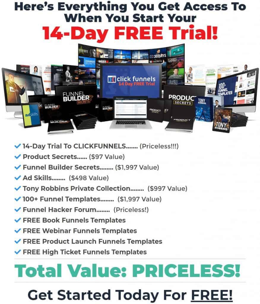 I Love ClickFunnels Free Trial Bonuses