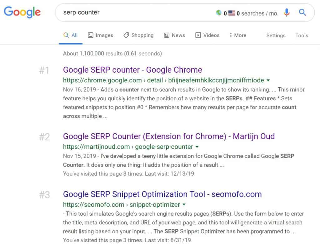 serp counter search results
