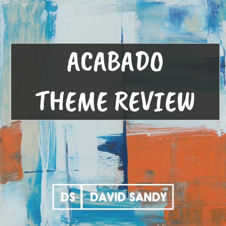 Acabado Theme Review - Fastest WordPress Theme