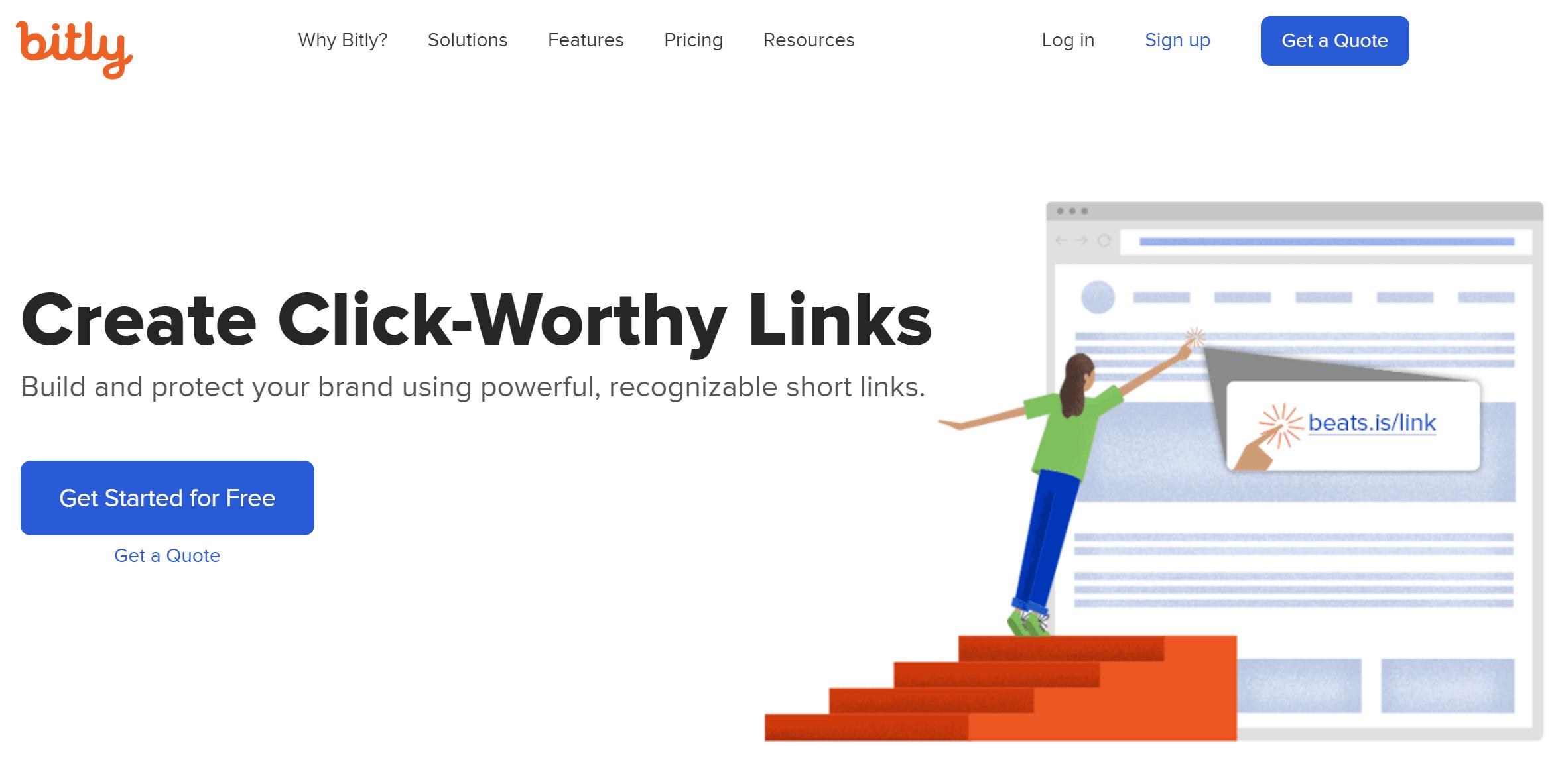 Bitly URL Shortener Home Page