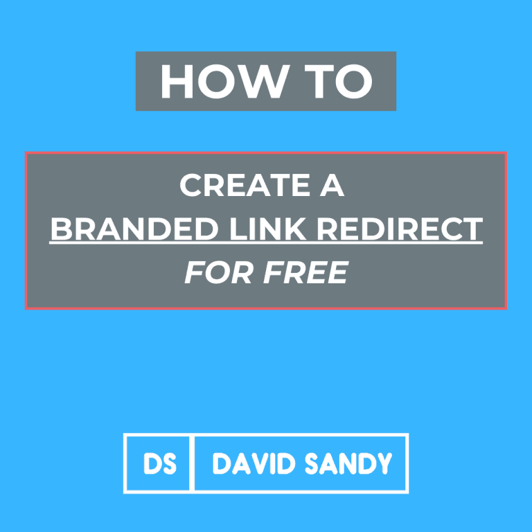 How To Create A Branded Link Redirect For Free