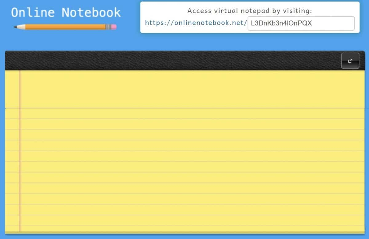 online notebook