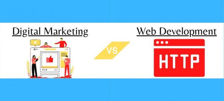 digital marketing vs web development wide